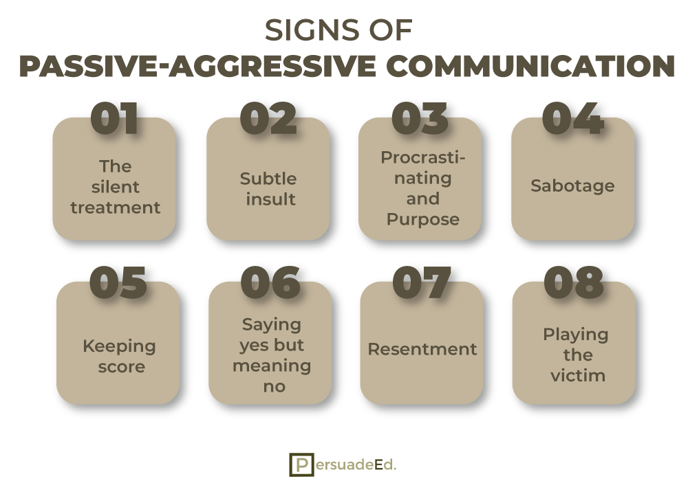 Signs of Passive Aggressive Communication