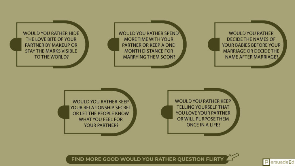 Good would you rather question flirty